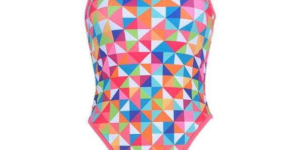 Sea waves hot pink swimwear