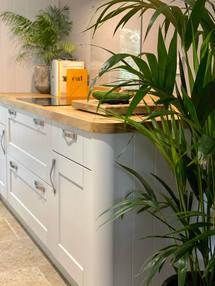 the kitchen palms.