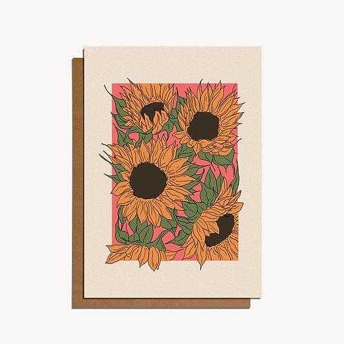 sunflowers card.