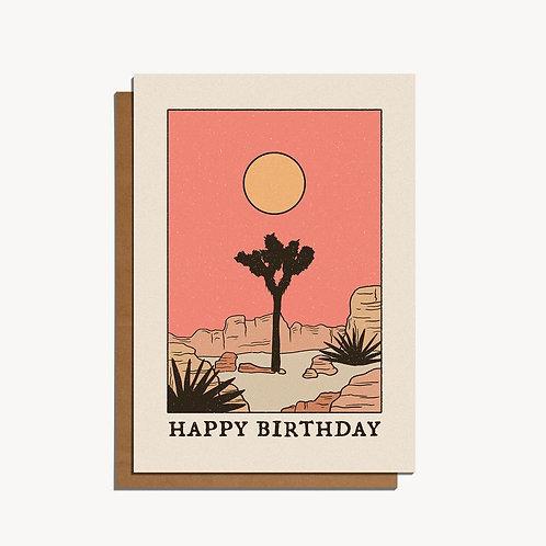 desert sun card.