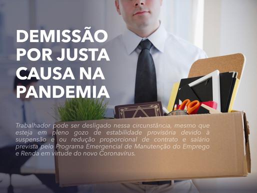 DEMISSÃO POR JUSTA CAUSA NA PANDEMIA