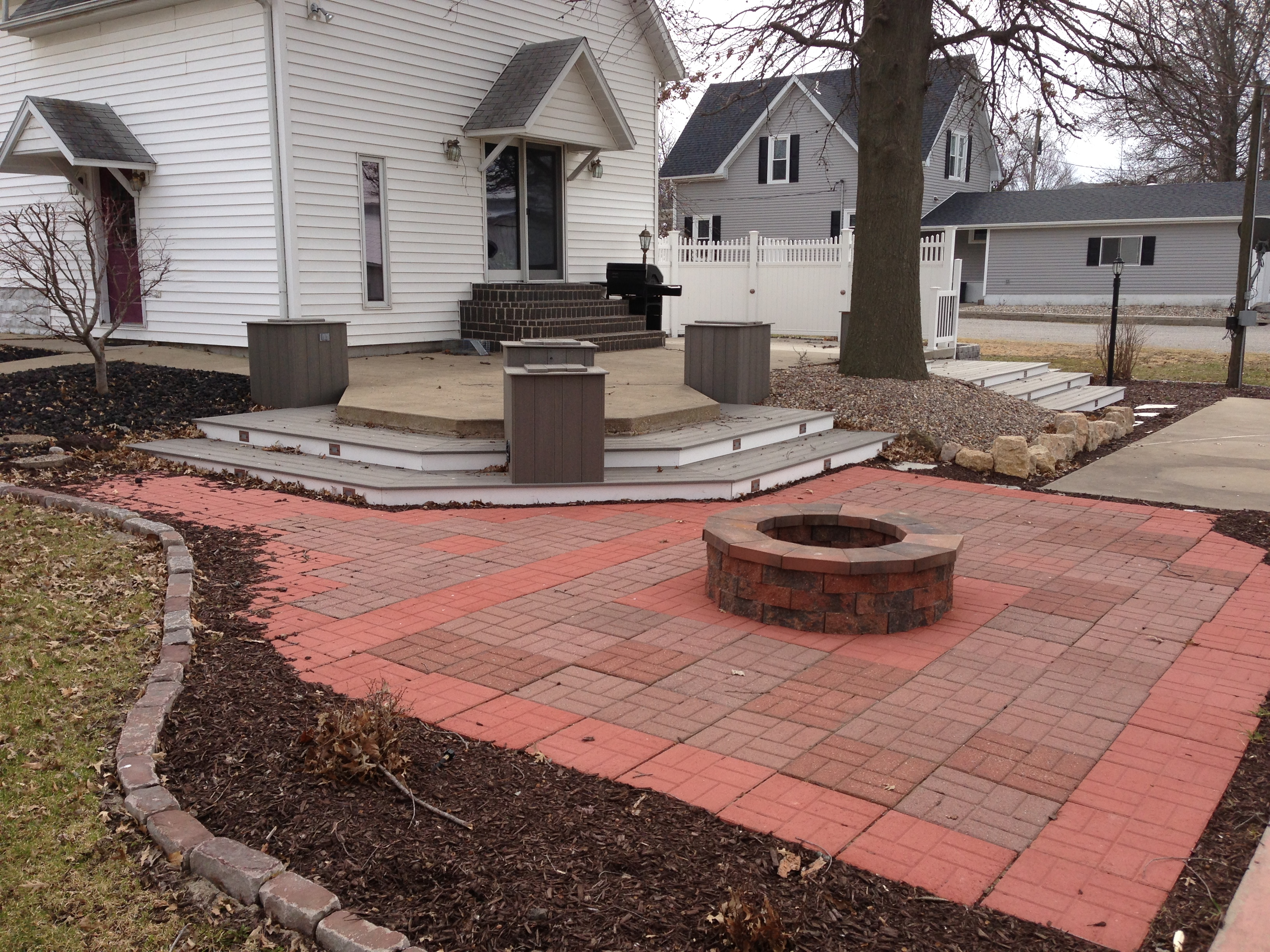 Fire-Pit & Landscaping