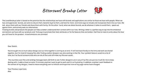 EXTERNAL FFE Summary - Breakup Letter Ex