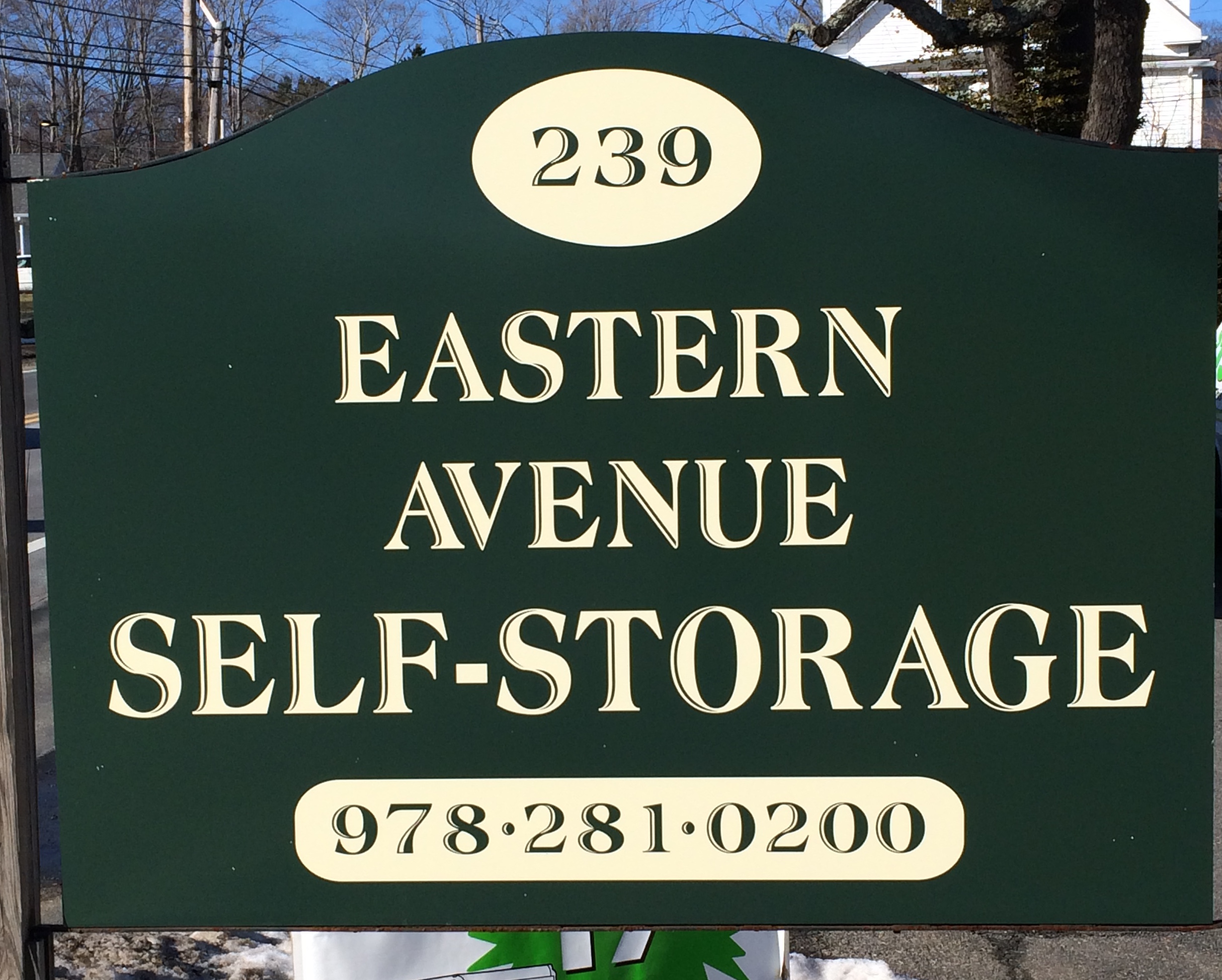 Eastern Ave Storage Sign