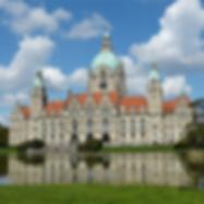 Hannover-Rathaus-Grün-Wasser