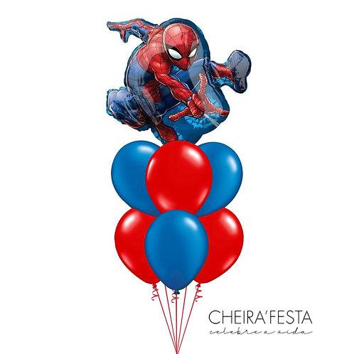 Bouquet de balões temático Homem Aranha