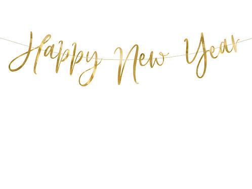 Grinalda happy new year dourada