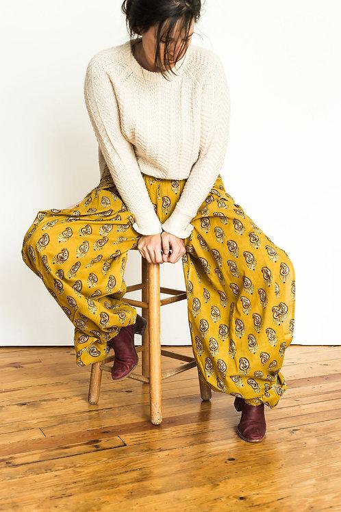 Harem pants - gold paisley