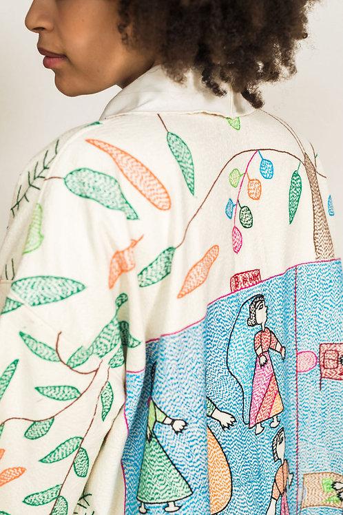 Custom hand stitched coat
