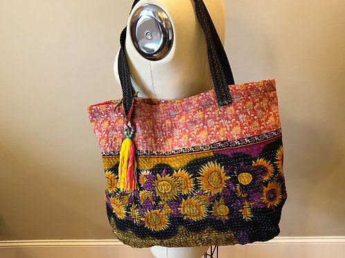 Sunflowers with black tote