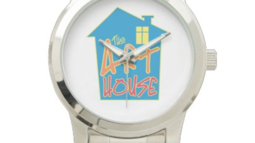 The Art House Unisex Oversized Silver Bracelet Watch