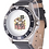 Thumbnail: Safe Place Stainless Steel Black Rubber Strap Watch