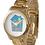 Thumbnail: The Art House Unisex Oversized Gold Bracelet Watch