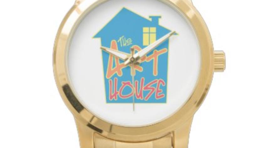 The Art House Unisex Oversized Gold Bracelet Watch