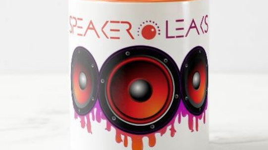 Speaker Leaks Coffee Mug