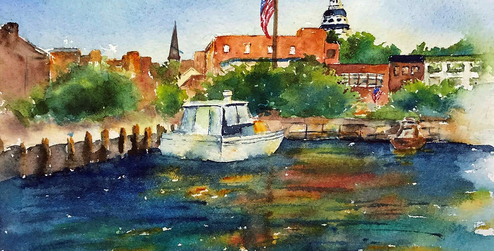Annapolis Harbor Ships Naval Academy Boats Historical