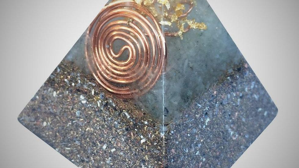 Orgonite Pyramid - Green Aventurine & Rose Quartz