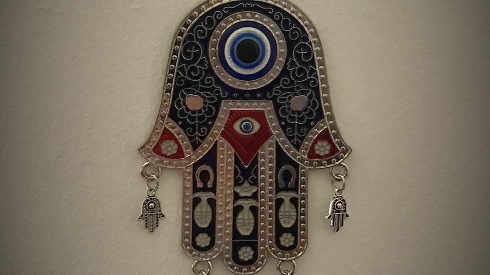 Large Evil-Eye Hamsa, Wall-Hanging