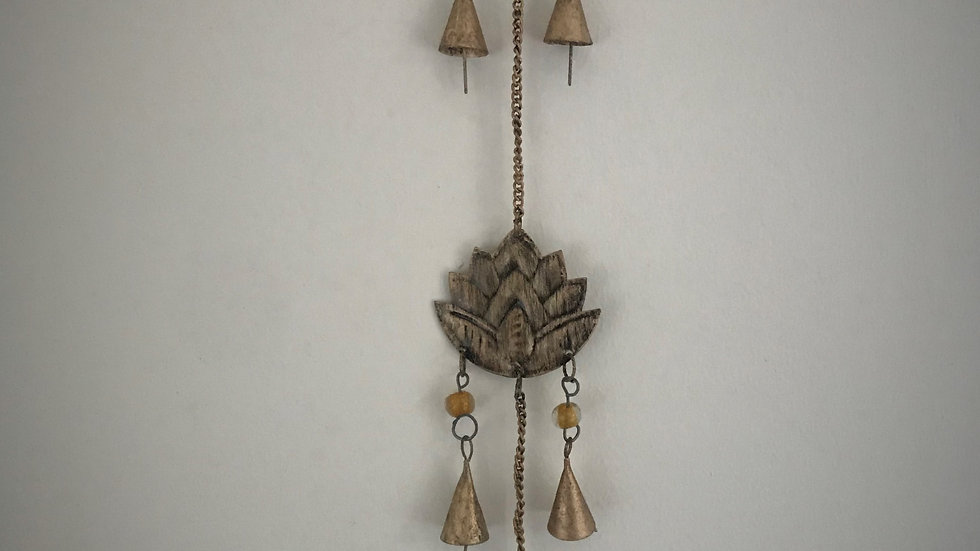 Lotus Flower-Chime with Bells (Gold)