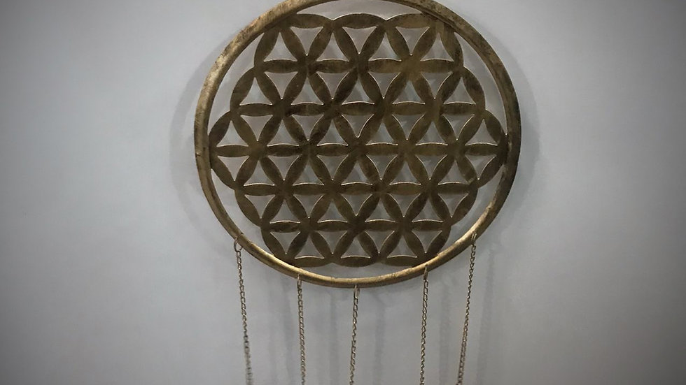 Flower of Life-Chime with Bells (Medium/Gold)