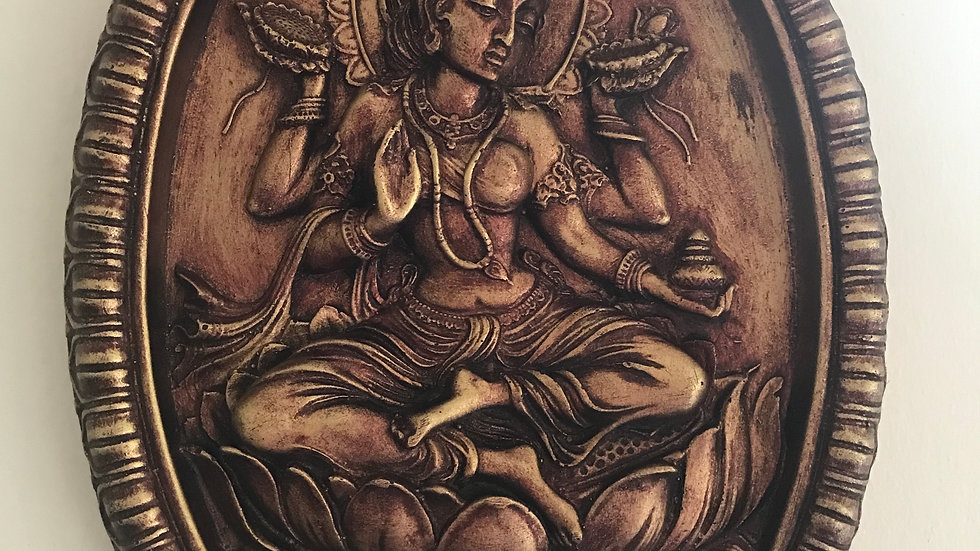 Lakshmi Wall-Hanging Plate - 32cm x 23cm