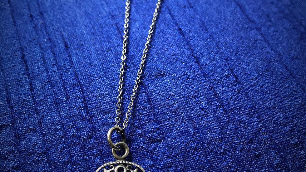 Hamsa-Hand Necklace (Sterling Silver)