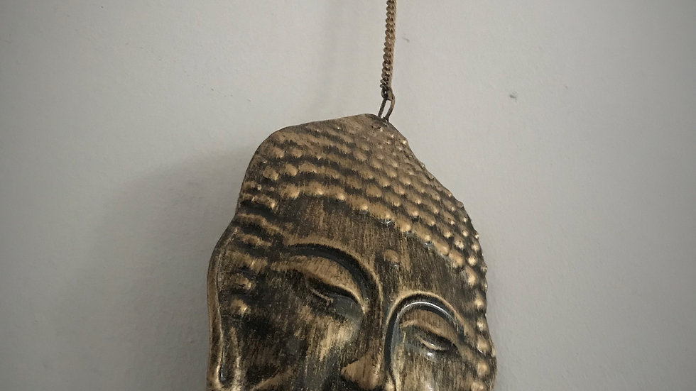 Buddha-Head Chime with Bells (Gold)