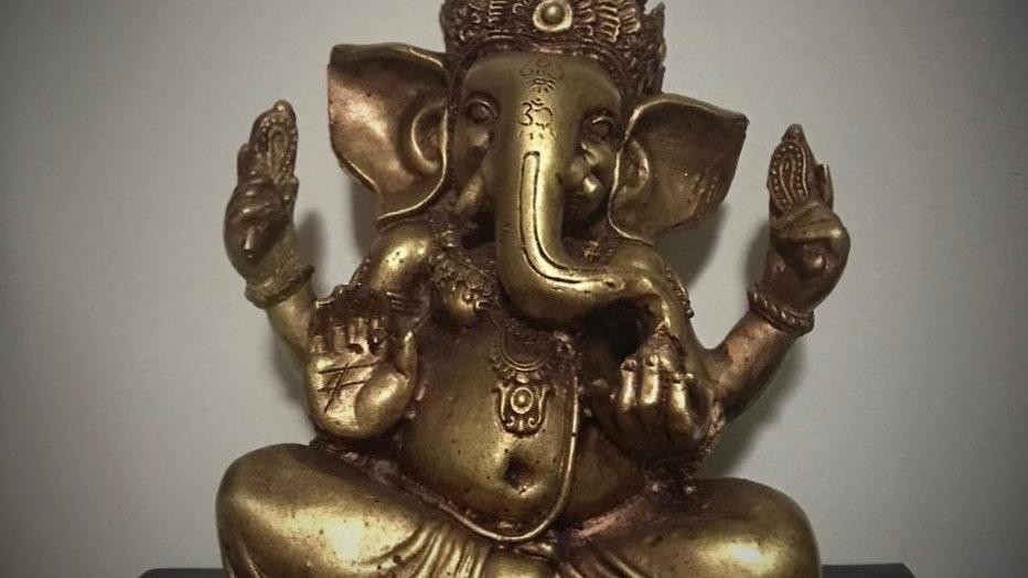 Ganesha-Statue - 20cm x 15cm (Bronze)