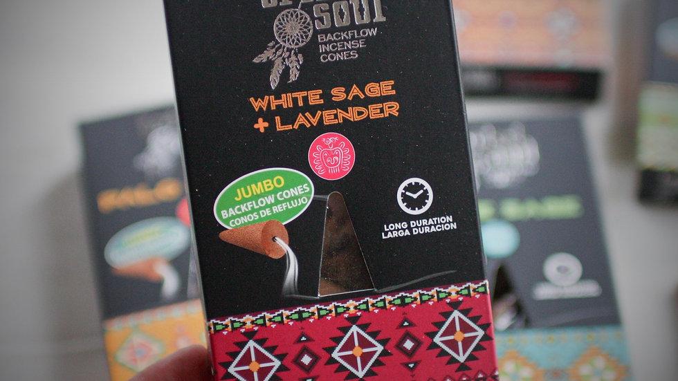 Tribal Soul-Incense Cones - White Sage+Lavender