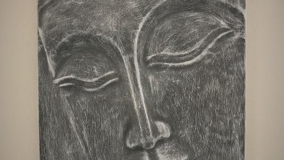 Buddha Wall-Hanging (Plaque) - 51cm x 35cm