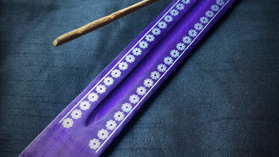 Assorted Incense Holders (Purple with Floral Designs)