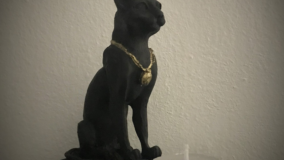 Egyptian Cat Goddess, Candle Holder