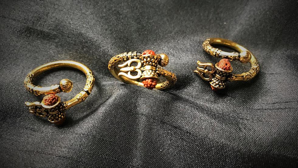 Shiva Trishul/Damru Ring