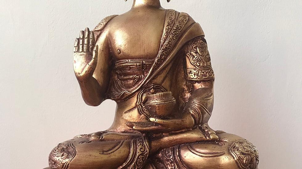 Tibetan Buddha (Gold) - 34cm x 26cm