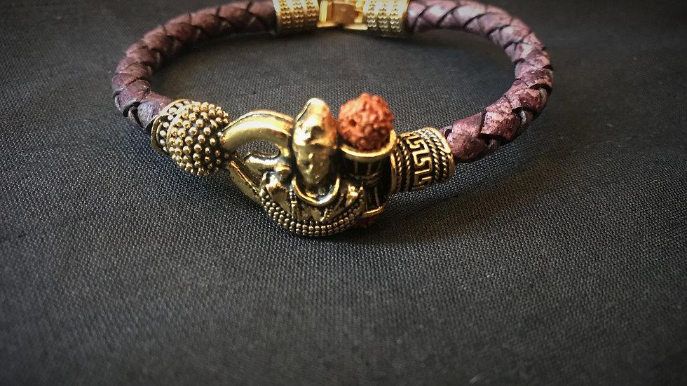Shiva Leather Bracelet