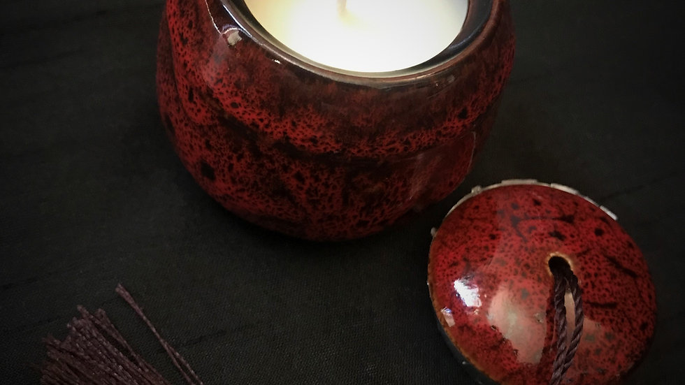 Scented Candle Jar (Red)