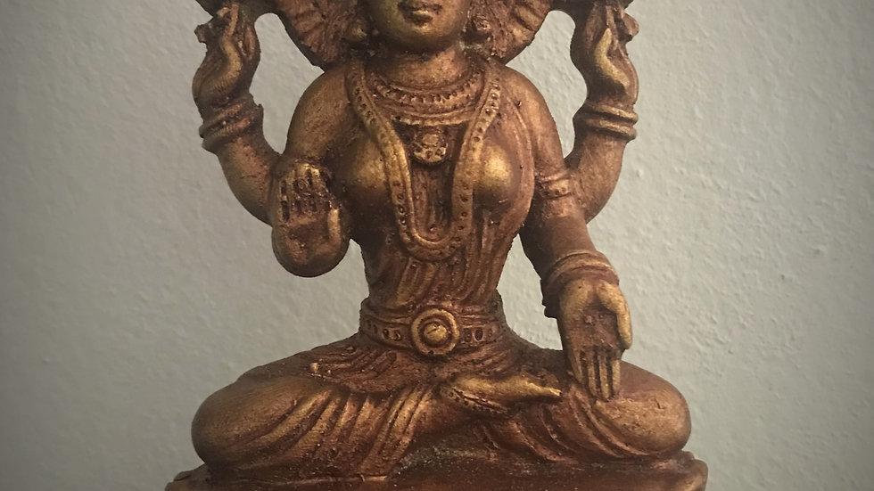 Lakshmi Statue - 14cm x 9cm