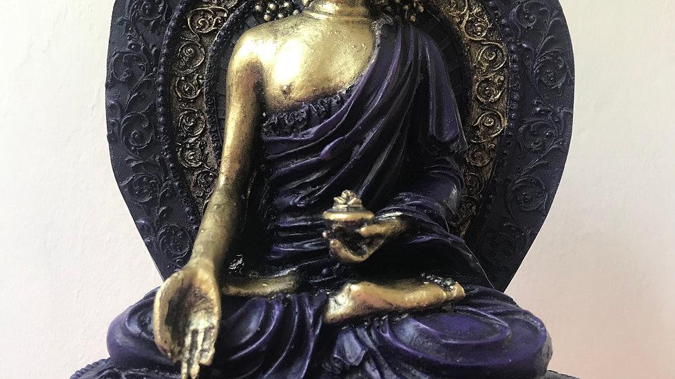 Aura Buddha (Purple) - 27cm x 17cm