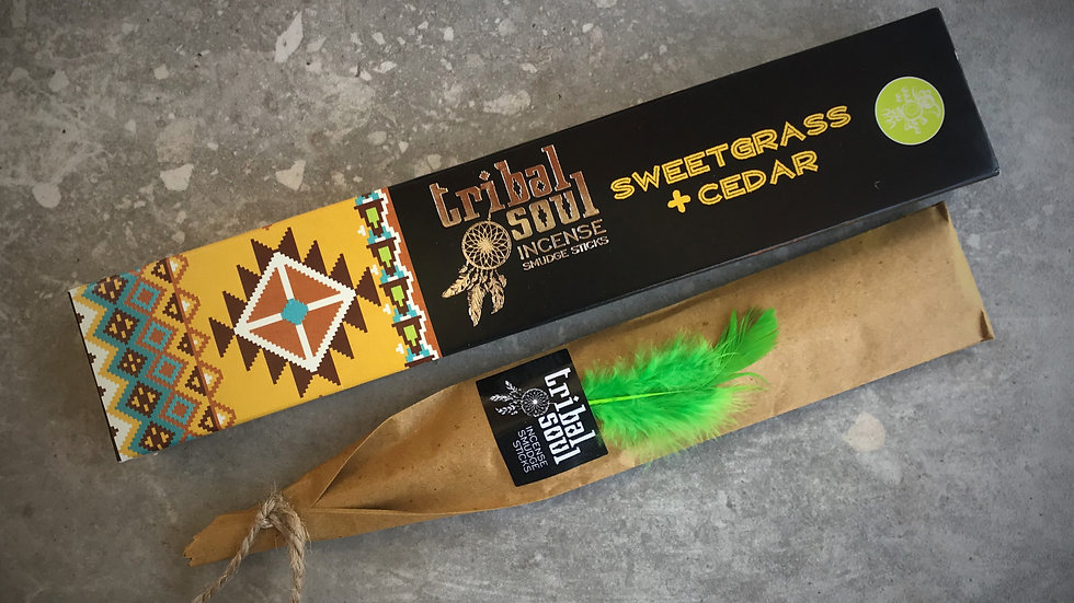Tribal Soul-Incense Sticks - Sweetgrass+Cedar