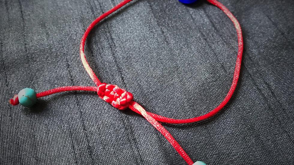 Evil-Eye Bracelet - Faith, Luck, Protection (Red)