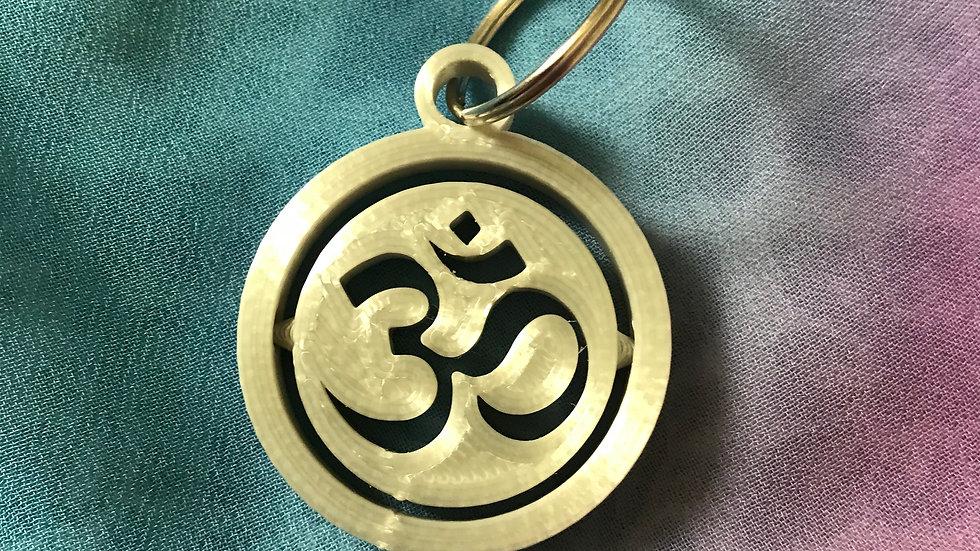 Aum Gyro/Spinning-Keyring - (Silver)
