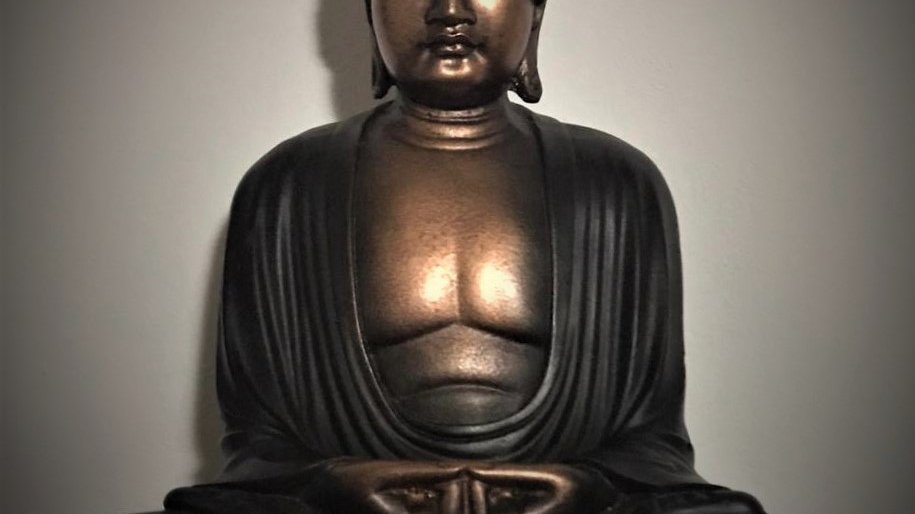 Kamakura Meditating Buddha (Bronze/Black)