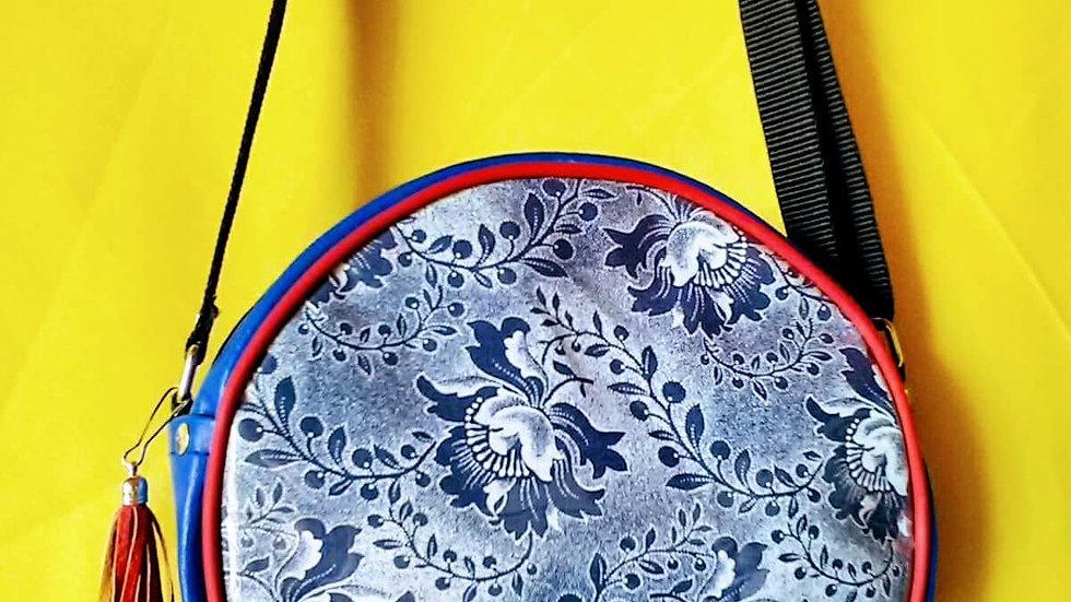 Decorative Blue-Flowers Bag
