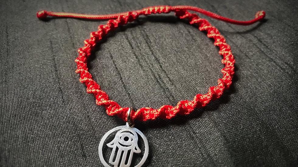 Red Kabbalah Bracelet with Hamsa-Hand
