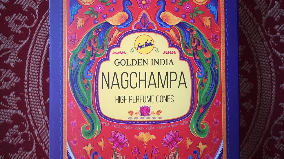 Golden India Nagchampa-Backflow-Cones