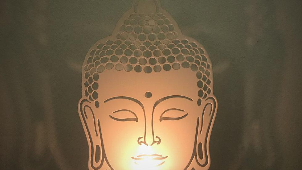 Buddha-Tealight Candle Holder (White)