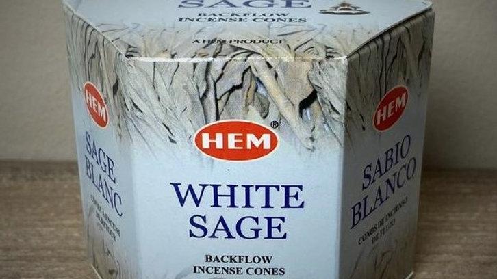 White Sage - (40) Backflow Incense Cones