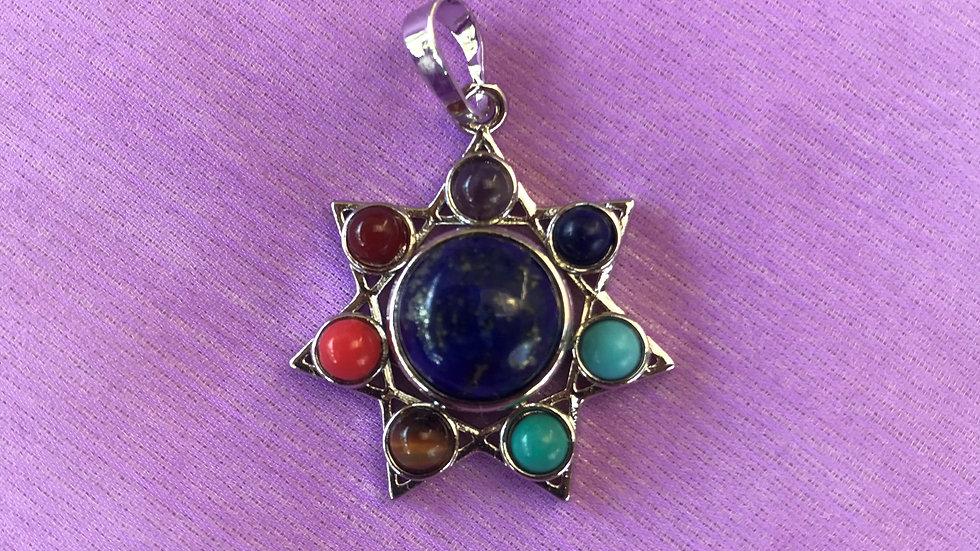 7 Chakra-Pendant with Lapis Lazuli
