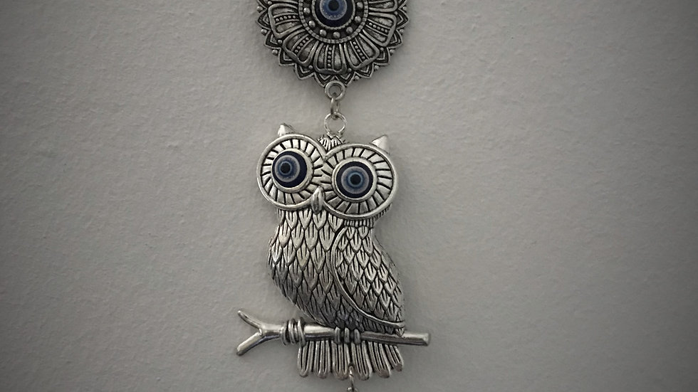 Owl Sitting with Evil-Eye, Wall-Hanging