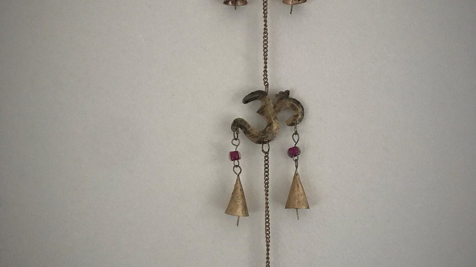 Aum-Chime with Bells (Gold)